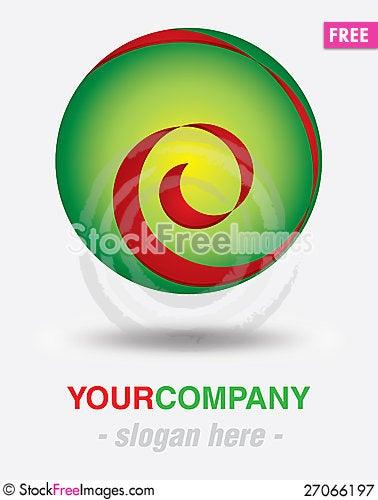 Free Modern Logo Design Royalty Free Stock Photography - 27066197