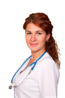 Free Beautiful Young Red-haired Doctor Stock Photography - 27064542