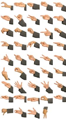 Free Hand Signs Language Stock Photography - 27064742