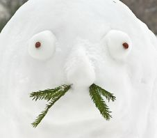 Free Moustached Snowman Royalty Free Stock Photo - 27065925