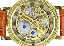 Free Gear Mechanism  Golden Watch Stock Photo - 27066080