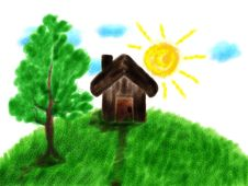 Free Children S Paint House Stock Images - 27067014