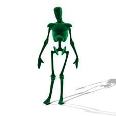 Free Green Glowing Cyborg Stock Photography - 27067072
