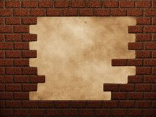 Free Hole In Red Brick Wall Stock Photos - 27067143