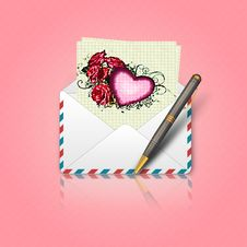 Free Love Letter Stock Image - 27067151