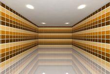 Free Yellow Tone Tile Wall Design Royalty Free Stock Photos - 27067438