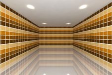 Yellow Tone Tile Wall Design Royalty Free Stock Photos