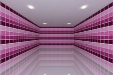 Free Pink Tone Tile Wall Design Royalty Free Stock Images - 27067449