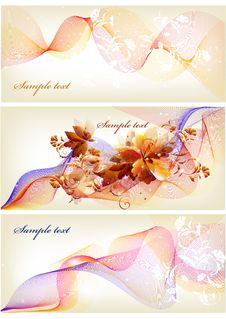 Free Flower Banner With Space For Text Stock Images - 27071964