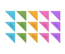 Free Collection Of Retro Corner Ribbons Royalty Free Stock Image - 27072196