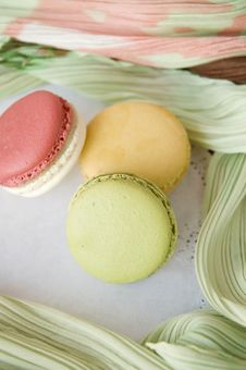 Soft And Sweet Macarons Royalty Free Stock Photo