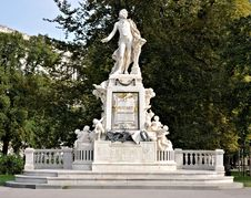 Mozart Statue And Monument Vienna Stock Photo
