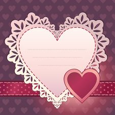 Free Heart Scrapbook Template Background Design Royalty Free Stock Photography - 27079717