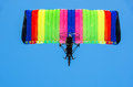 Free Colorful Owered Paraglider From Underneath View Stock Photography - 27085282