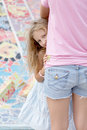 Free Portrait Of Blonde Girl Hiding Royalty Free Stock Photography - 27088257