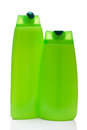 Free Two Green Blank Bottle Royalty Free Stock Image - 27088316