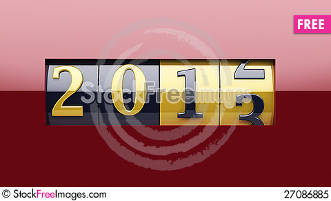 Free New Year Counter 2013 Royalty Free Stock Photo - 27086885