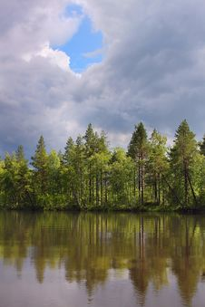 Free Beautiful Forest On The Lake Royalty Free Stock Photo - 27080365