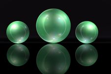 Free Green Marbles Stock Photo - 27081030