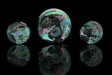 Free Multi-Colored Marbles Stock Images - 27081034