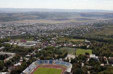 View With City Stadium Stock Photo