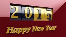 Free New Year Counter 2013 Royalty Free Stock Image - 27086886