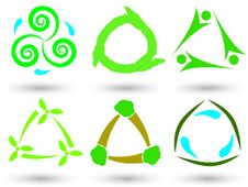 Free Eco Triangle Icons Stock Images - 27087854
