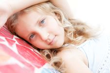 Portrait Of A Pretty Child Girl Blonde Stock Images
