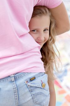 Free Portrait Of Blonde Girl Happy Stock Photography - 27088292