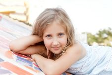 Free Portrait Of A Cute Baby Girl Blonde Royalty Free Stock Photos - 27088338