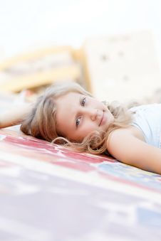 Free Portrait Of A Cute Child Girl Blonde Stock Image - 27088351