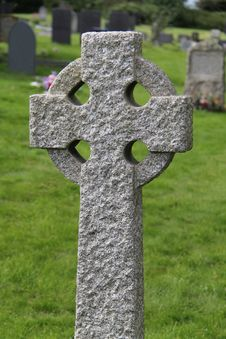 Free Celtic Stone Cross. Stock Photos - 27089913