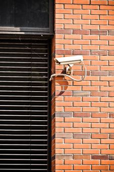 Free Security Camera On Office Building Stock Image - 27096661