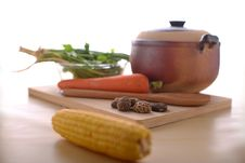 Free Healthy Living With Vegetables Stock Photo - 27098060