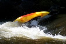 Free Action In A Kayak Competition. Stock Image - 27098281