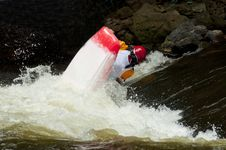 Free Action In A Kayak Competition. Stock Photo - 27098320