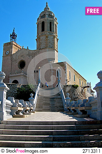 Free Stairs To Church Stock Image - 2713311