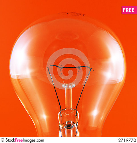 Free Bulb On Red Stock Photo - 2719770