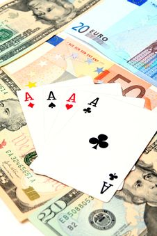 Free Money Playing Cards Stock Photos - 2710793