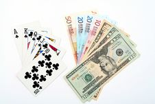 Free Money Playing Cards Royalty Free Stock Photography - 2710807