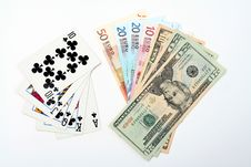 Free Money Playing Cards Royalty Free Stock Image - 2710846