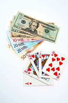 Free Money Playing Cards Royalty Free Stock Photo - 2710935