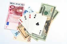 Free Money Playing Cards Stock Photography - 2710942