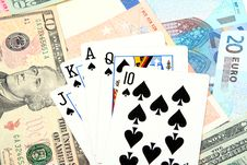 Free Money Playing Cards Stock Photography - 2710952