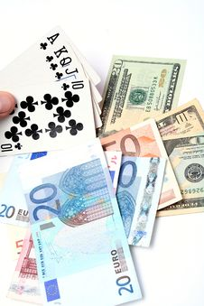 Free Money Playing Cards Stock Image - 2711011