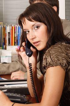 Free Girl Call Stock Photo - 2711230