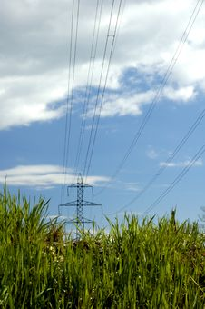 Free Pylons In The Grass Stock Images - 2711344