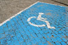 Free Handicapped Parking Slot Royalty Free Stock Images - 2712389