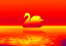 Free Swan In Red Stock Image - 2712891