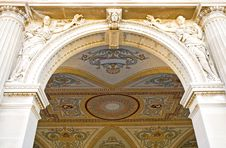 Free Ornate Archway And Ceiling Stock Image - 2714101